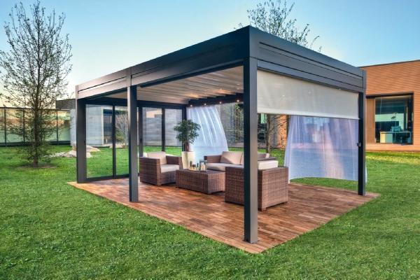 Spledide tettoie e pergolati per il tuo arredo giardino - Palizzate in legno per giardino ...